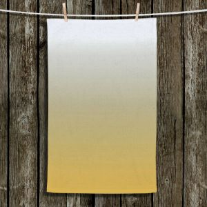 Unique Hanging Tea Towels | Susie Kunzelman - Ombre Spicy Mustard | Ombre