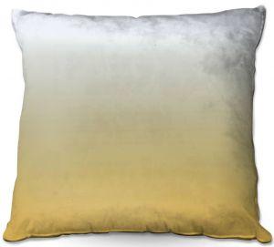 Throw Pillows Decorative Artistic | Susie Kunzelman - Ombre Spicy Mustard