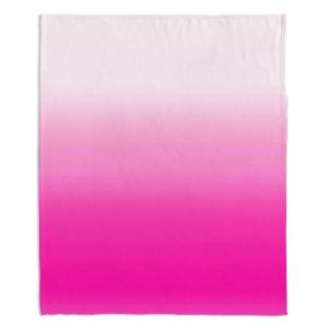 Decorative Fleece Throw Blankets | Susie Kunzelman - Ombre Sweetest Pink
