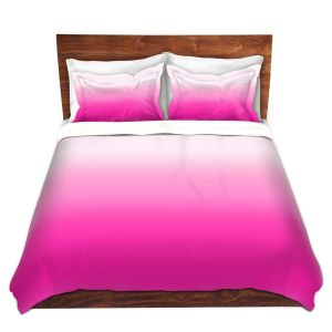 Artistic Duvet Covers and Shams Bedding | Susie Kunzelman - Ombre Sweetest Pink