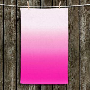 Unique Hanging Tea Towels | Susie Kunzelman - Ombre Sweetest Pink | Ombre