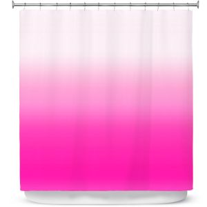 Premium Shower Curtains | Susie Kunzelman - Ombre Sweetest Pink
