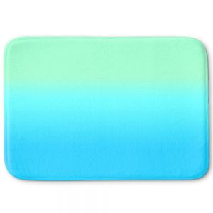 Decorative Bathroom Mats | Susie Kunzelman - Ombre Turquoise Mint Blue