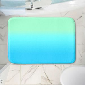 Decorative Bathroom Mats   Susie Kunzelman - Ombre Turquoise Mint Blue