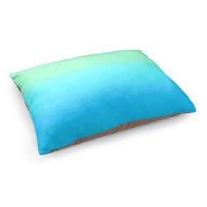 Decorative Dog Pet Beds | Susie Kunzelman - Ombre Turquoise Mint Blue