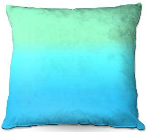 Decorative Outdoor Patio Pillow Cushion | Susie Kunzelman - Ombre Turquoise Mint Blue