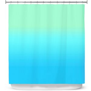 Premium Shower Curtains | Susie Kunzelman - Ombre Turquoise Mint Blue
