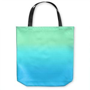 Unique Shoulder Bag Tote Bags |Susie Kunzelman - Ombre Turquoise Mint Blue