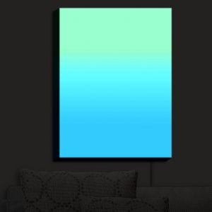 Nightlight Sconce Canvas Light | Susie Kunzelman - Ombre Turquoise Mint Blue | Ombre
