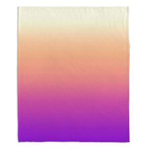 Artistic Sherpa Pile Blankets | Susie Kunzelman - Ombre Violet