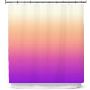 Premium Shower Curtains | Susie Kunzelman - Ombre Violet