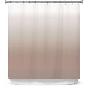 Premium Shower Curtains   Susie Kunzelman - Ombre Warm Taupe