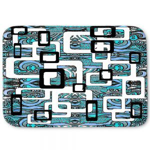 Decorative Bathroom Mats | Susie Kunzelman - Organic Blue