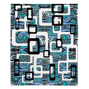 Decorative Fleece Throw Blankets | Susie Kunzelman - Organic Blue