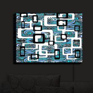 Nightlight Sconce Canvas Light | Susie Kunzelman - Organic Blue | Patterns Funky