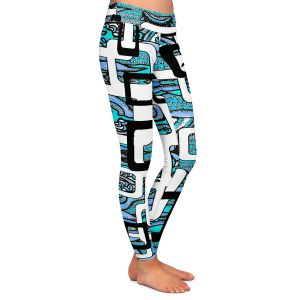 Casual Comfortable Leggings | Susie Kunzelman - Organic Blue