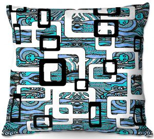 Throw Pillows Decorative Artistic | Susie Kunzelman - Organic Blue