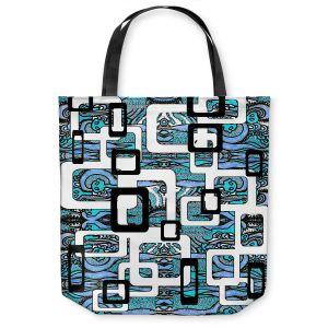 Unique Shoulder Bag Tote Bags |Susie Kunzelman - Organic Blue