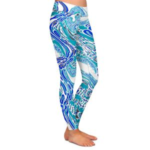 Casual Comfortable Leggings   Susie Kunzelman - Organic Waves   Colorful abstract pattern