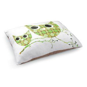 Decorative Dog Pet Beds | Susie Kunzelman's Owl Argyle Orange