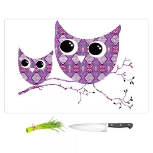 Artistic Kitchen Bar Cutting Boards | Susie Kunzelman - Owl Argyle Rose