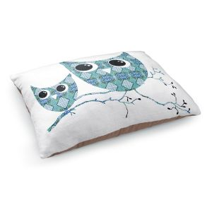 Decorative Dog Pet Beds | Susie Kunzelman's Owl Argyle Teal