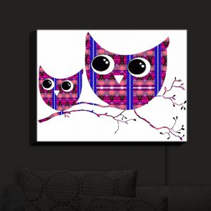 Nightlight Sconce Canvas Light | Susie Kunzelman's Owl Suspenders Pink