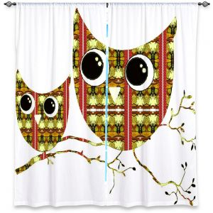 Decorative Window Treatments | Susie Kunzelman Owl Suspenders Yellow
