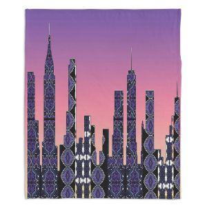 Decorative Fleece Throw Blankets | Susie Kunzelman - Pantone New York Skyline