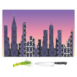 Artistic Kitchen Bar Cutting Boards | Susie Kunzelman - Pantone New York Skyline