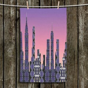 Unique Hanging Tea Towels | Susie Kunzelman - Pantone New York Skyline | Places NYC Skyline Downtown