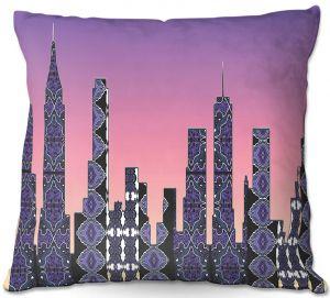 Decorative Outdoor Patio Pillow Cushion | Susie Kunzelman - Pantone New York Skyline