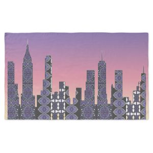 Artistic Pashmina Scarf | Susie Kunzelman - Pantone New York Skyline | Places NYC Skyline Downtown