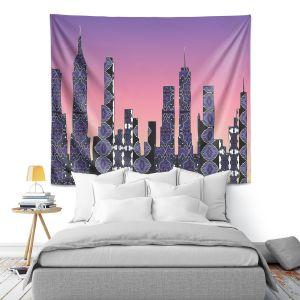 Artistic Wall Tapestry | Susie Kunzelman - Pantone New York Skyline
