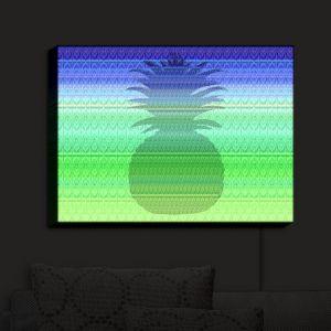 Nightlight Sconce Canvas Light | Susie Kunzelman - Pineapple Blue