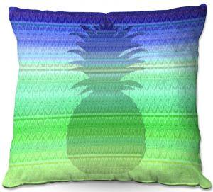Throw Pillows Decorative Artistic | Susie Kunzelman - Pineapple Blue | fruit silhouette pattern