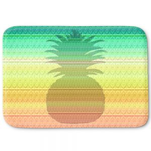 Decorative Bathroom Mats   Susie Kunzelman - Pineapple Rainbow 3   fruit silhouette pattern
