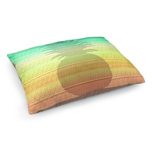 Decorative Dog Pet Beds | Susie Kunzelman - Pineapple Rainbow 3 | fruit silhouette pattern