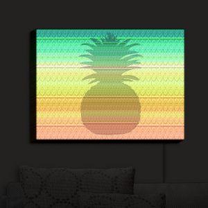 Nightlight Sconce Canvas Light | Susie Kunzelman - Pineapple Rainbow 3