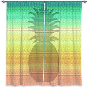Decorative Window Treatments | Susie Kunzelman - Pineapple Rainbow 3 | fruit silhouette pattern