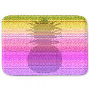 Decorative Bathroom Mats   Susie Kunzelman - Pineapple Yellow   fruit silhouette pattern