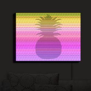Nightlight Sconce Canvas Light | Susie Kunzelman - Pineapple Yellow