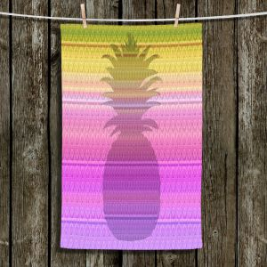 Unique Bathroom Towels | Susie Kunzelman - Pineapple Yellow | fruit silhouette pattern