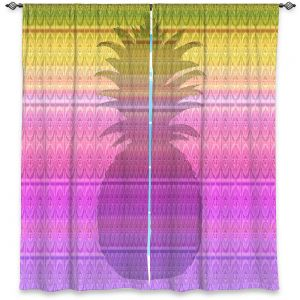 Decorative Window Treatments | Susie Kunzelman - Pineapple Yellow | fruit silhouette pattern