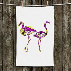 Unique Bathroom Towels | Susie Kunzelman - Pink Flamingos II