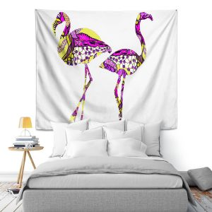 Artistic Wall Tapestry | Susie Kunzelman Pink Flamingos II