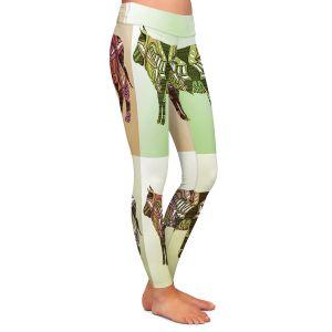 Casual Comfortable Leggings | Susie Kunzelman - Pop Cow Neutral | pop art silhouette pattern animal
