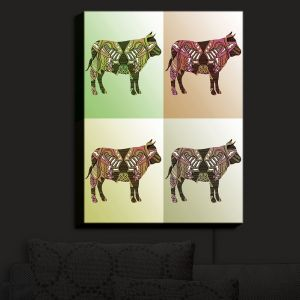 Nightlight Sconce Canvas Light | Susie Kunzelman - Pop Cow Neutral