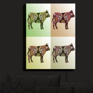 Nightlight Sconce Canvas Light | Susie Kunzelman - Pop Cow Neutral