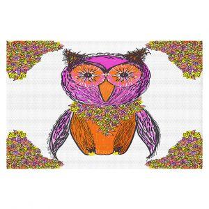 Decorative Floor Covering Mats | Susie Kunzelman - Pretty Owl 1 | animal pattern drawn bird